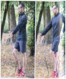 Exemples d'exercices d'échauffement marche nordique : montée pointe de pied